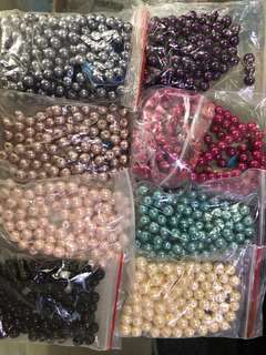 Crystal Pearl Beads Selling at 4 different sizes (10mm/8mm/6mm/3mm)