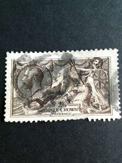 GB 1918 Seahorse 2/6 stamps(Fault).