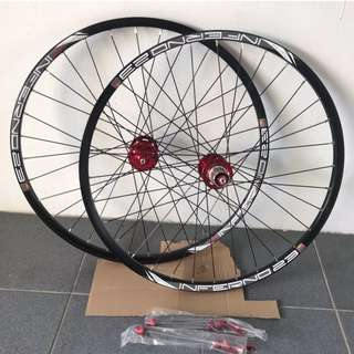💯🆕(New arrival) Chosen 4591/4597 Loud sound/Smooth 26er Wheelset with Sun Ringle Inferno 23 Rims