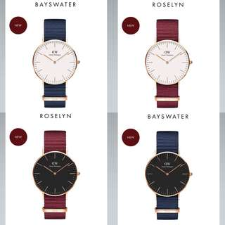 NEW DANIEL WELLINGTON BAYSWATER / ROSELYN