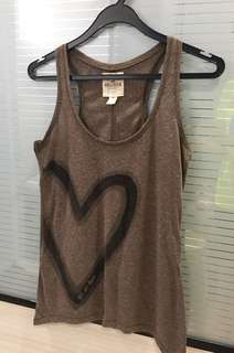 Brown cotton tank top (Get in here)