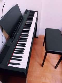 YAMAHA P115 88鍵電鋼琴(黑)