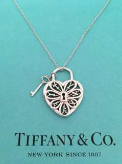 18k saudi gold tiffany and co bracelet preloved womens fashion authentic tiffany and co sterling silver heart and key filigree pendant necklace aloadofball Images
