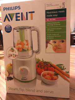 全新avent 蒸煮攪拌器 Brand new steamer and blender