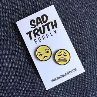 Sad Truth Supply USA Emoji Pin