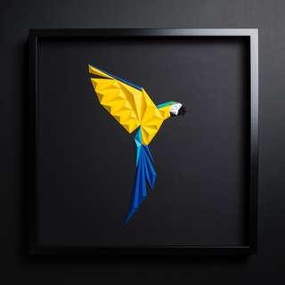 Paper Art - Macaw