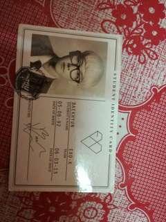 exo baekhyun card