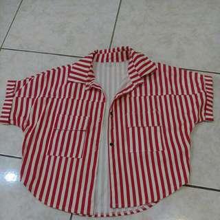 【⏰全面出清】紅白條紋外套