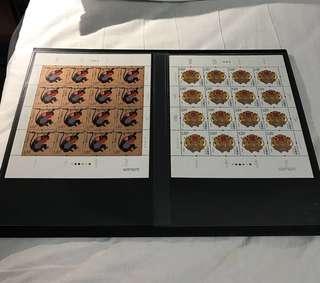 China Stamp - 2016-1 四轮生肖猴大版 Pane / Full Sheet / Big Sheet 中国邮票 同对号