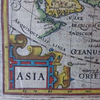 1612 - 400+!!! year old map of Asia by 'Gerard Mercator / Jodocus Hondius
