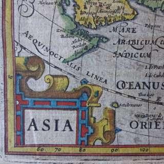 1612 - 400+!!! year old map of Asia by 'Gerard Mercator / Jodocus Hondius