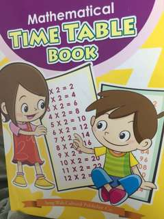 Math time table book