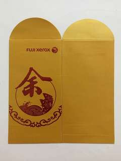 🐟 Fuji Xerox Gold Red Packet Ang Pow Hong Bao