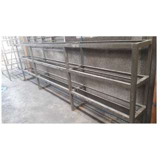 14ft Long 3 Deck Steel Shelves