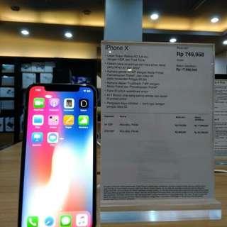 Iphone x nya bisa di kredit guys