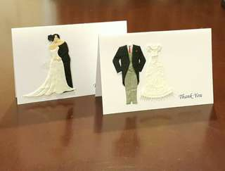 48 sets of Handmade Wedding Thank You Cards