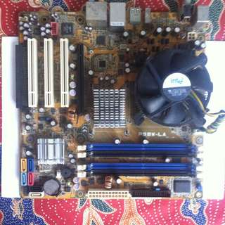 HP basswood P5BW-LA motherboard with intel pentium D processor 925 3Ghz and intel cpu cooler fan
