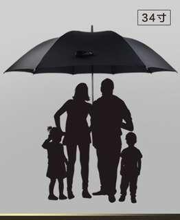 1.5m Wide XL uv black umbrella - very Good Quality