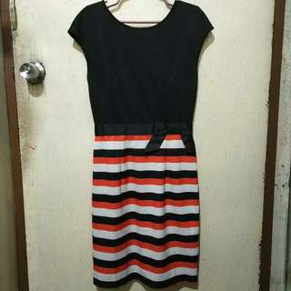 Apple and Eve Black / Orange Dress