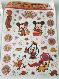 全新Disney 迪士尼賀年貼紙($19 for 1, $30 for 2)