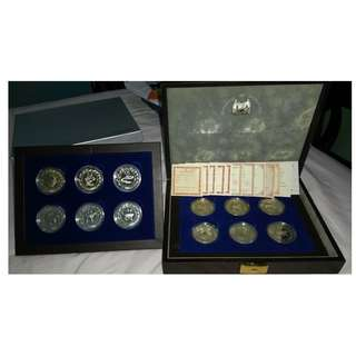SINGAPORE $10 SILVER PROOF COIN, 1st series silver