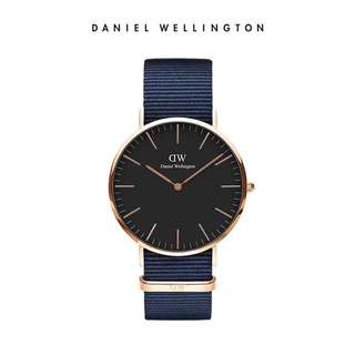 Daniel Wellington Watch 36mm and 40mm  black classic navy blue NATO strap latest both size avail