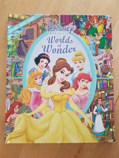 Book: Disney Princess Look & Find - Worlds of Wonder *Preloved, in almost new condition!*