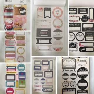 Sticker Book of Gift Labels
