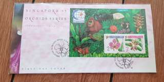 First Day Cover - Orchids Series 1995