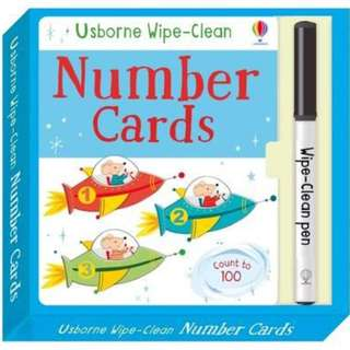 (Brand New) Wipe-Clean Number Cards Wipe-clean Cards    By: Felicity Brooks, Malu Lenzi (Illustrator)