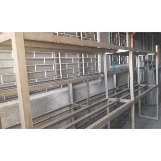 12ft 2 Deck Steel Shelves