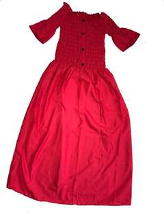 Red long Dress brand new off shoulder free size