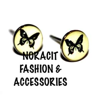 Oil Design Earrings - Stainless Steel Stud *BEAUTIFUL BUTTERFLY* - ODE252