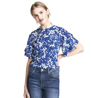 H&M Blouse with Trumpet Sleeves