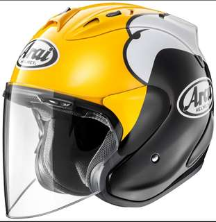 Size M KENNY YELLOW Arai Ram4 R4 Design BNIB 57 - 58cm