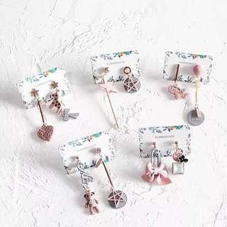 PO Cute earrings (and ear clips!)
