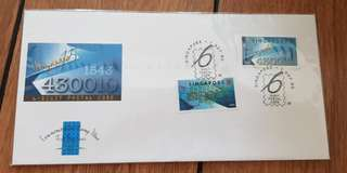 First Day Cover - 6 digit postal code