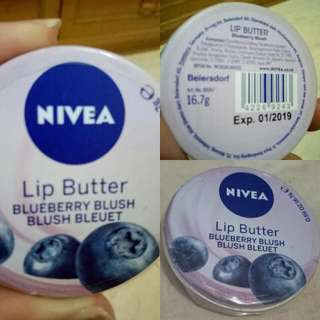 Lip Butter Nivea Blueberry Blush