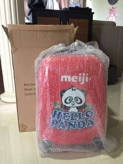 BN red cabin Meiji hello panda cute luggage