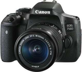 Camera Canon 750D bisa di cicil 6bulan mulai 1jt aja