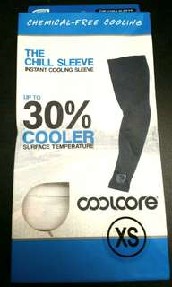 White Coolcore Arm Sleeves