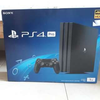 NEW Playstation PS4 PRO + Controller 1TB Jet Black