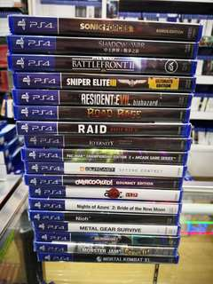 Ps4 Game each rm99 new and sealed free postage