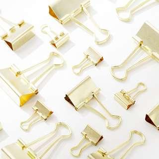 Binder Clip (Gold) (Ref No.: 240)