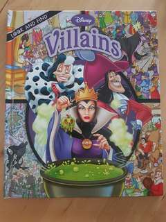 Book: Disney Villains Look & Find *Preloved, in almost new condition!*
