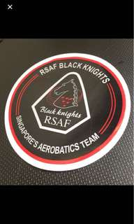 RSAF Black Knights Team car decal + RSAF 50 Anniversary car decal