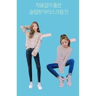 🚚 Ice cream12韓國牛仔褲深藍