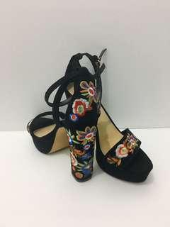 ALDO velvet embroidery sandal