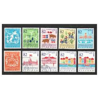 JAPAN 2017 150TH ANNIV. JAPAN - DENMARK DIPLOMATIC RELATIONS COMP. SET OF 10 STAMPS IN FINE USED CONDITION