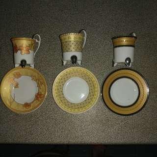 Beautiful teacup with saucer